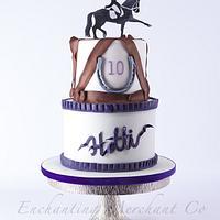 Horse riding theme birthday cake