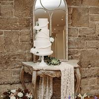 1920s themed wedding cake