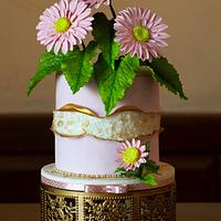 Gerbera Geode Cake
