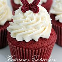 Red velvet cupcakes by Victorious Cupcakes