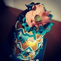 Blue fantasy anemone