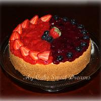 NY Strawberry Blueberry Cheesecake