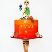 cake with Tinker Bell