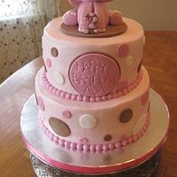 Pink Elephant Birthday Cake