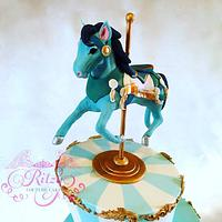 Boy themed Carousel cake