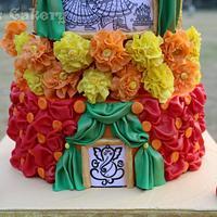 Indian traditional wedding cake
