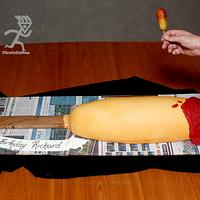 "Giant Hot Dog on a Stick (1.5m / 60"")"
