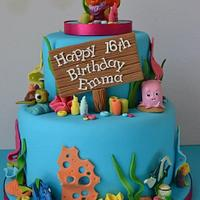 Finding Nemo 16th birthday cake