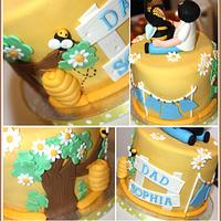 Little Bumble Bee with Daddy by Cheeky Munch Cakes