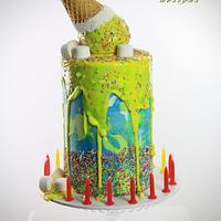 Drop icecream cake