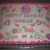 Girly Sheet Cake