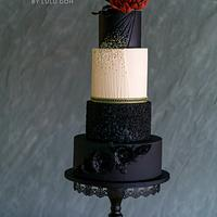 """Midnight Dream"" for the Elegant India Fashion Cake collaboration"
