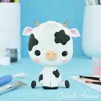 Cute Cow Cake Topper