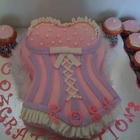 Pink Corset Cake (inspired by many different bakers)