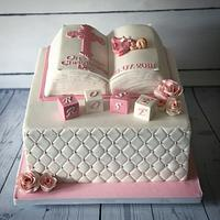 Bible christening cake