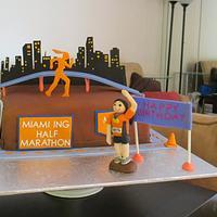 Half Marathon Cake