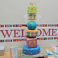 20 years celebrations of St.Francis Preschool & international Festival Cake