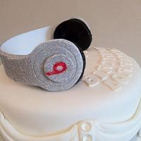 Diamante Dr Dre Beats Headphone cake by Nina Stokes