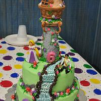 rapunzel cake- Tangled