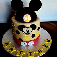Happy happy Mickey Birthday Cake!