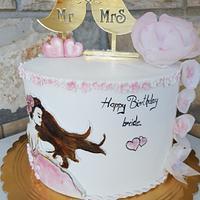 Handpainted fondant cake