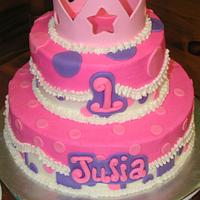 Pink and purple princess cake