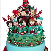 Christmas Children Cake