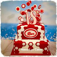 Geometric 18th Birthday Cake