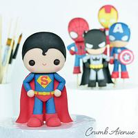 Cute Superhero Cake Topper