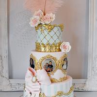 Antoinette inspired 16th birthday cake