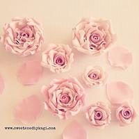 Pink vintage sugar roses