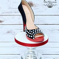 Louboutin cupcake tower