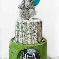 Wolf blue moon cake