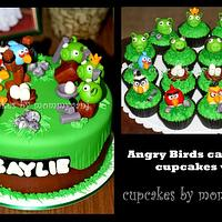 Angry Birds Cake and Cupcakes