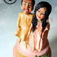 Caricature Wedding Cake