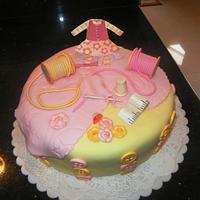 Grandma's sewing cake!