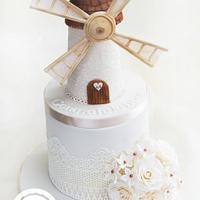 Windmill  Engagement Cake