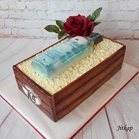 Bottle finlandia cake