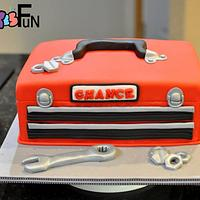 Toolbox Baby Shower Cake