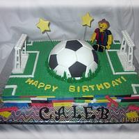 Lego soccer cake