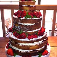 Rustic Victoria Wedding Cake