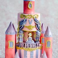 Sofia the princess Castle cake !!  by Hima bindu