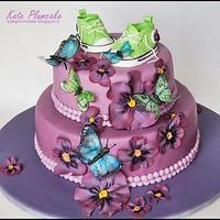 Christening cake for Violet