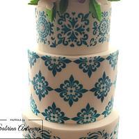 Majolica wedding cake