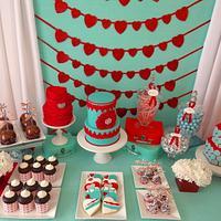 Valentine's sweet table