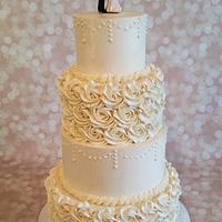 Buttercream Beauty Wedding Cake