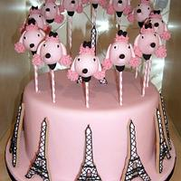 Paris Poodle  cake-pop and cookie cake