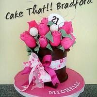 chocolate cake bouquet