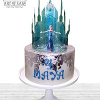 Admirable Elsa Frozen Castle Cake Cake By Akademia Tortu Magda Cakesdecor Funny Birthday Cards Online Overcheapnameinfo