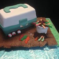 Avery's fishing cake
